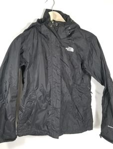 Black Hyvent North Face rain and wind jacket sz S